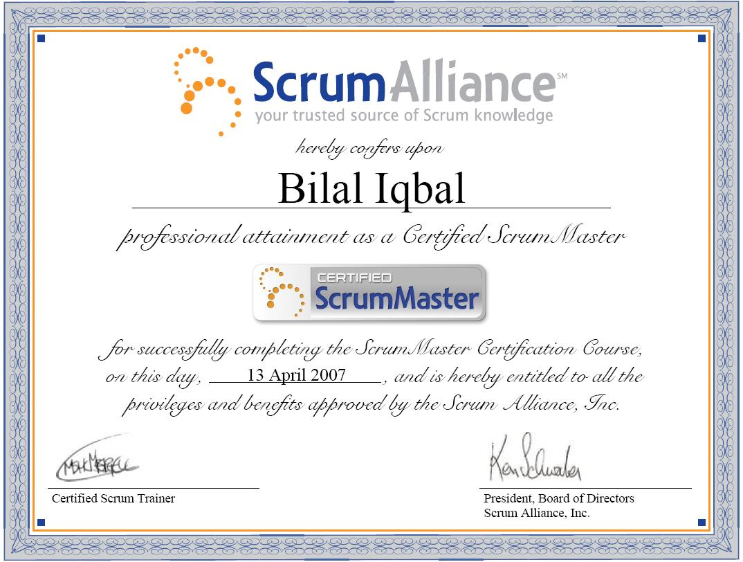 Portfolio bilal iqbal mba pmp pmi acp lssbb csm ccp certified scrum master csm xflitez Image collections