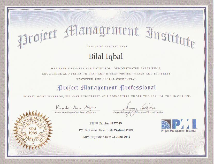Project Management Certifications All Templates